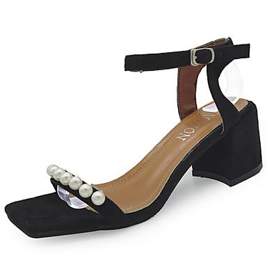 Mujer Zapatos Ante Verano Confort Sandalias Tacón Bajo Beige / Marrón / Verde HlmxXGI4Uk