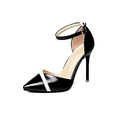Damen Sandalen Komfort Sommer Gummi Walking Schnalle Block Ferse Weiß Schwarz Unter 2,5 cm