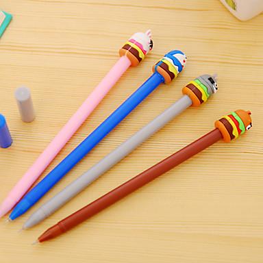 Gel Pen Toll Gél tollak Toll Fekete Ink Colors Kompatibilitás Iskolai felszerelés Irodaszerek Csomag 12 pcs