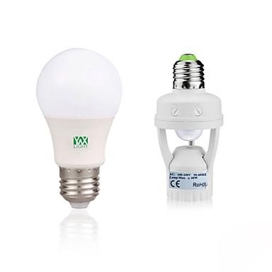 YWXLIGHT® 5 W 400-500 lm E27 LED gömbbúrás izzók 10 led SMD 2835 Az emberi test érzékelő Dekoratív Meleg fehér Fehér AC85-265