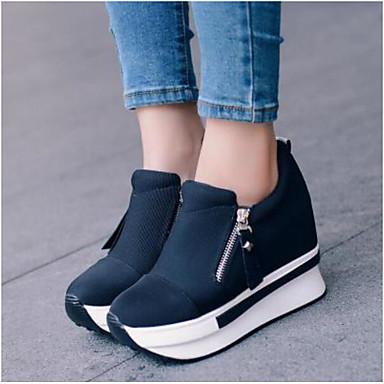 3f8db2fc0a05b للمرأة أحذية PU   صوف صيف   شتاء مريح اخفاف كعب متوسط حذاء يغطي أصبع القدم
