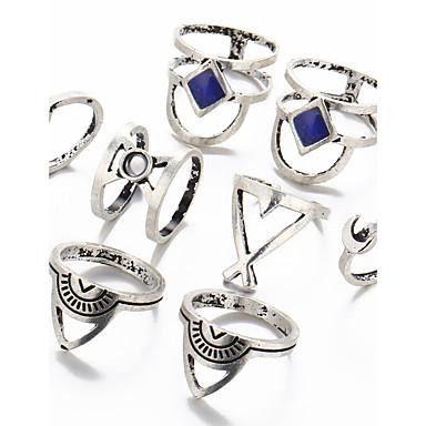 Női Kristály / Szintetikus gyémánt / Strassz Kristály Luxus Ékszer szett - Luxus / Hip-Hop / Gótikus Circle Shape / Geometric Shape Fehér