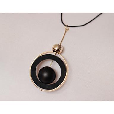 Damen Künstliche Perle Leder Anhängerketten - Künstliche Perle Leder Aleación Personalisiert Kreisförmig Modische Halsketten Für