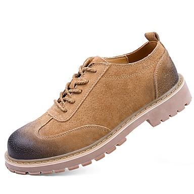للرجال أحذية PU شتاء خريف مريح نعال خفيفة أحذية الغوص أوكسفورد دانتيل إلى فضفاض الأماكن المفتوحة المكتب & الوظيفة رمادي أصفر
