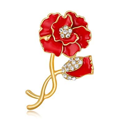 Damen Mädchen Modisch individualisiert Handgemacht Simple Style Aleación Blumenform Schmuck Für Hochzeit Party Geburtstag Verlobung Alltag