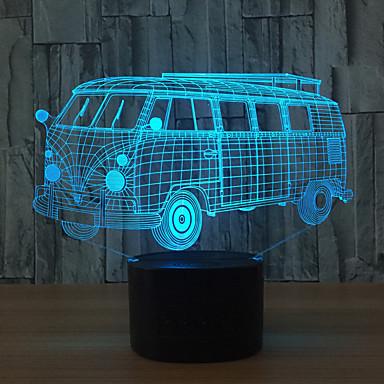 1set 3D éjszakai fény Érintsd 7-Color USB Érintésérzéklő Színváltós