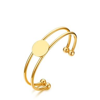 Női Imádni való Karperecek Bilincs karkötők - elegáns Divat Ovális Arany Karkötők Kompatibilitás Esküvő Eljegyzés Napi