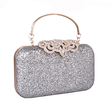 Damen Taschen Kunstleder Abendtasche Strass / Paillette / Mini Punkte Gold / Silber