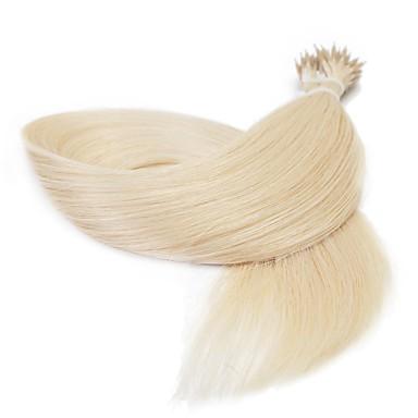 Mikroring Haar-Verlängerung Haarverlängerungen Glatt Damen Alltag