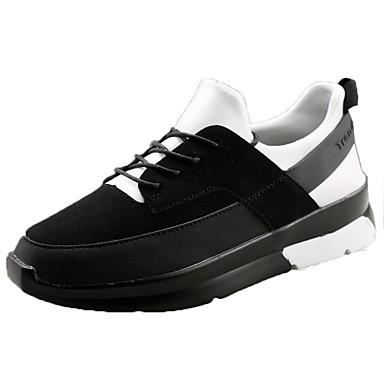 Damen Schuhe PU Frühling Herbst Komfort Sportschuhe Flacher Absatz für Normal Weiß Schwarz Rot