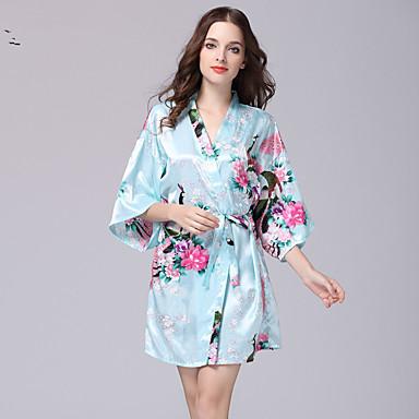 472f727f94c Women s Robes   Satin   Silk Nightwear - Print Floral