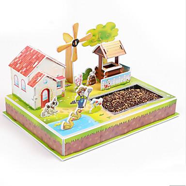 3D - Puzzle Holzpuzzle Spielzeuge Berühmte Gebäude Haus Architektur 3D Heimwerken Papier Kinder Stücke