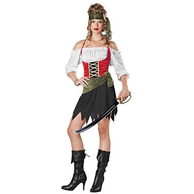 Geist Seeräuber Cosplay Cosplay Kostüme Maskerade Frau Erwachsene Halloween Karneval Fest/Feiertage Halloween Kostüme Andere Vintage