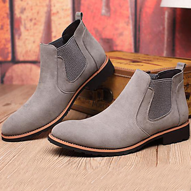Men's Bootie Suede Fall / Winter Boots Booties / Ankle Boots Black / Gray / Party & Evening