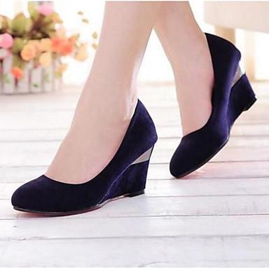 Damen Schuhe PU Sommer Komfort High Heels Für Normal Purpur Rot
