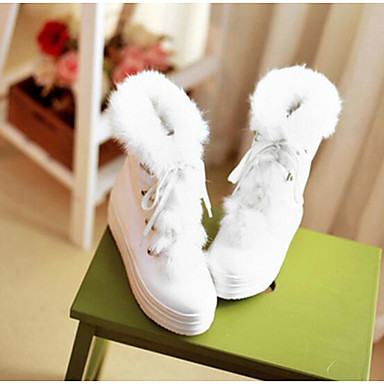 Damen Schuhe PU Winter Komfort Stiefel Für Normal Weiß Beige Rosa