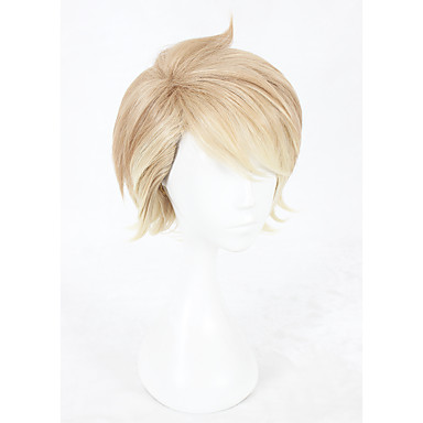 Synthetic Wig / Cosplay & Costume Wigs Straight Synthetic Hair Faux Locs Wig Brown Wig Short Capless