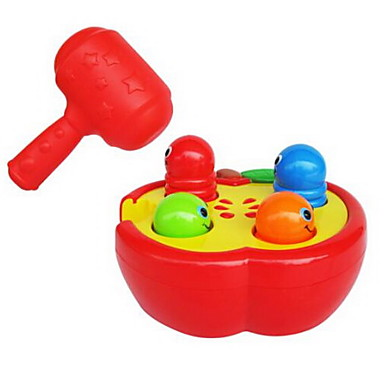 غوفر لعبة آلات موسقية آلعاب ألعاب لهو مربع أدوات الموسيقى حيوان بيضوي البلاستيك البلاستيك الجامد خشب قطع للأطفال للجنسين عيد ميلاد هدية
