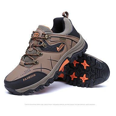 Men's PU(Polyurethane) Spring / Fall Comfort Athletic Shoes Gray / Green / Light Brown