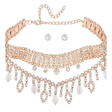Damen Halsketten Strass Tropfen Aleación Liebe überdimensional Sexy Einstellbar Schmuck Für Hochzeit Party Formal