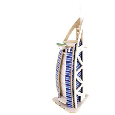 3D építőjátékok Fejtörő Wood Model Népszerű épület Fa Gyermek Uniszex Ajándék