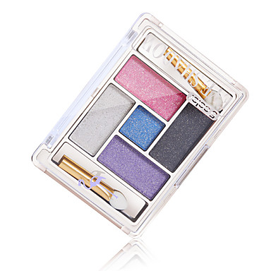 5 Lidschattenpalette Schimmer Lidschatten-Palette Puder Alltag Make-up Party Make-up Smokey Makeup