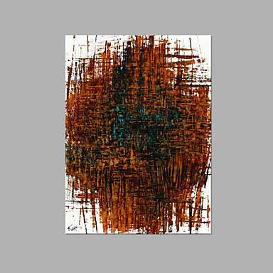 هانغ رسمت النفط الطلاء رسمت باليد - تجريدي فني كنفا / امتدت قماش