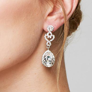 בגדי ריקוד נשים עגילי טיפה עגיל אופנתי אלגנטי ירח דבש תכשיטים יהלום מדומה סגסוגת טיפה תכשיטים עבור חתונה Party יומי קזו'אל