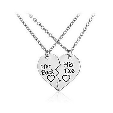 Women's Pendant Necklace - Love Basic, Fashion Silver Necklace For Birthday, Daily, Casual