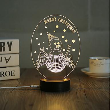 1 készlet, népszerű házi akril 3d éjszakai fény led asztali lámpa usb hangulata lámpa ajándékok, vidám