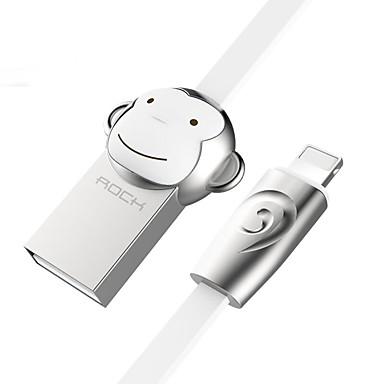 ROCK USB 2.0 Kabel, USB 2.0 to Lightning Kabel Male - Male 1.0m (3Ft)