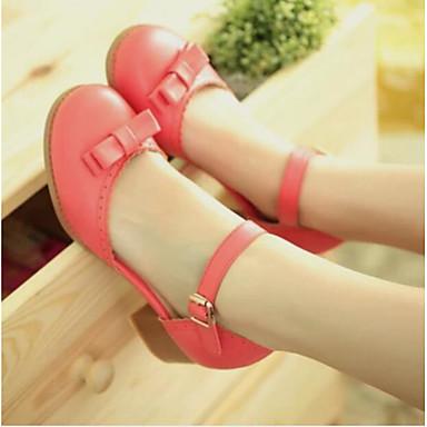 Damen Schuhe PU Sommer Komfort Sandalen Für Normal Weiß Rot Rosa