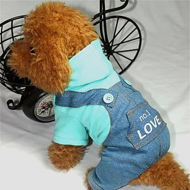 Dog Jumpsuit Dog Clothes Letter & Number Pink / Light Blue Cotton Costume For Pets Men's / Women's Fashion