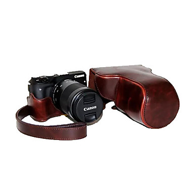 Dengpin® PU Leather Detachable Camera Case Bag Cover with Shoulder Strap for Canon EOS M3 EOS-M3 (Assorted Colors)