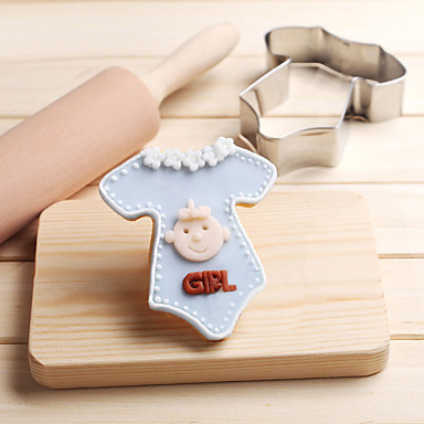 Baby Clothes Cookies Cutter Stainless Steel Biscuit Cake Mold Kitchen Baking Tools