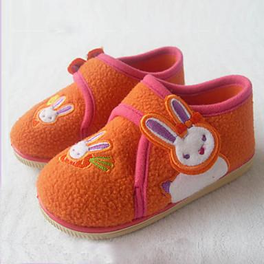 Lány Cipő Pihe Ősz Tél Vulkanizált cipők Papucsok & Balerinacipők Rátétek Tépőzár mert Hétköznapi Ruha Narancssárga