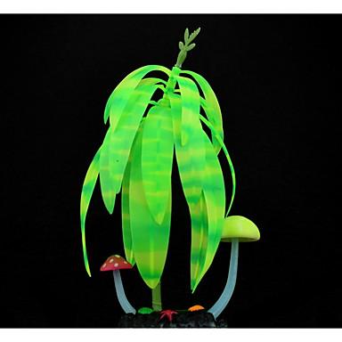 Aquarium Dekoration Pflanzen leuchtend Gummi
