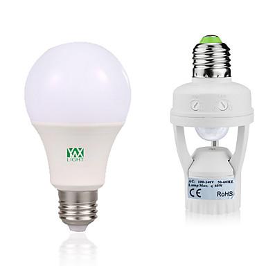 YWXLIGHT® 12W 1050-1250lm E27 LED Globe Bulbs 24 LED Beads SMD 2835 Human Body Sensor Decorative Warm White White 85-265V