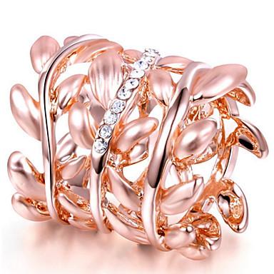 Damen Bandring Kristall Personalisiert Luxus Klassisch Grundlegend Sexy Liebe Elegant nette Art Modisch Krystall Aleación Blattform