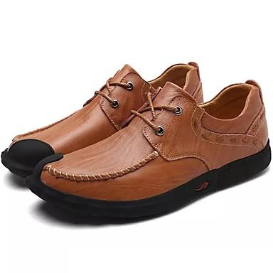 Férfi cipő Nappa Leather Tél Tavasz Ősz Kényelmes Félcipők mert Hétköznapi Hivatal és karrier Party és Estélyi Fekete Világosbarna