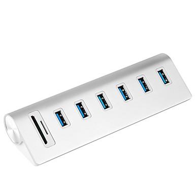 Rocketek 6 USB-Hub USB 3.0 EU Stecker GB Stecker USB 3.0 USB 3.0 Micro-B Mit Kartenleser (n) Daten Halter Eingangsschutz