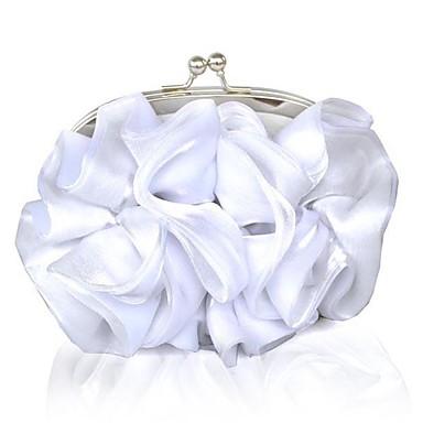 Női Táskák Selyem Estélyi táska Virág / Lánc Fehér / Tejesfehér / Esküvői táskák