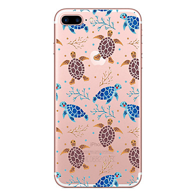 Case For Apple iPhone 7 Plus iPhone 7 Transparent Pattern Back Cover Animal Soft TPU for iPhone 7 Plus iPhone 7 iPhone 6s Plus iPhone 6s