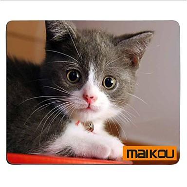 billige Musematte-Maikou musematte katt bærer briller pc matte datamaskin forsyning tilbehør