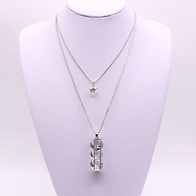 Női Szintetikus gyémánt Nyaklánc medálok - Ezüst