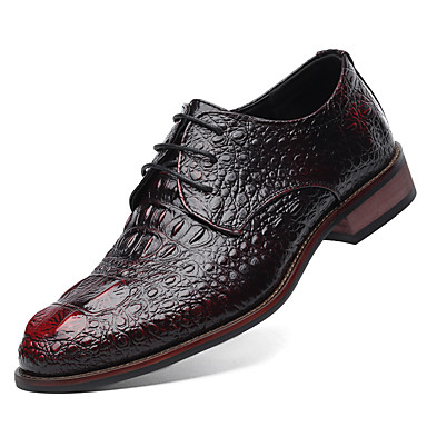 Men's Formal Shoes Microfiber Spring / Fall Business Oxfords Black / Yellow / Red / Party & Evening / Novelty Shoes / Dress Shoes