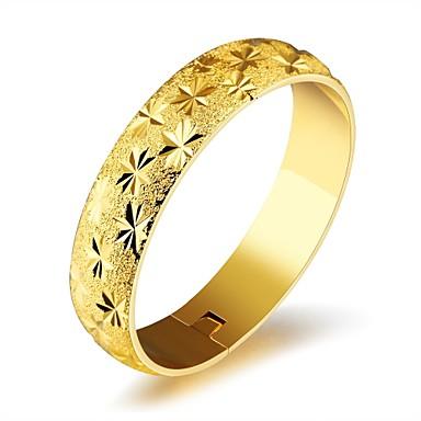 Női Kocka cirkónia Cirkonium Arannyal bevont Rózsa arany bevonattal Imádni való Luxus Bilincs karkötők - Luxus Alap Divat Circle Shape