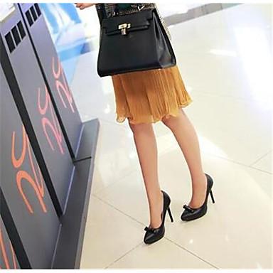 Damen Schuhe PU Frühling Komfort High Heels Für Normal Weiß Schwarz Beige