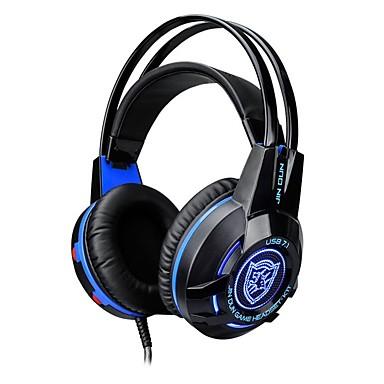 K1 Fejpánt Vezetékes Fejhallgatók Dinamikus Műanyag Játszás Fülhallgató Fénylő / Mikrofonnal / A hangerőszabályzóval Fejhallgató