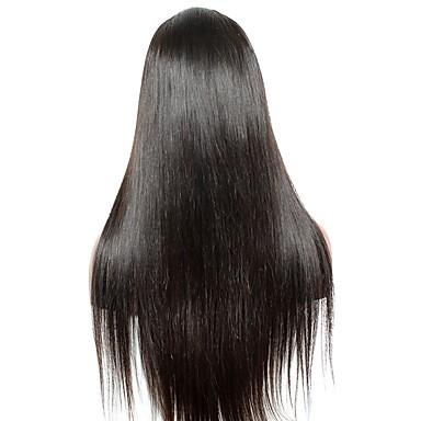 Remy haj Csipke Paróka Egyenes Tincselve 120% Sűrűség 100% kézi csomózású Természetes hajszálvonal 10 hüvelyk 12 hüvelyk 14 hüvelyk 16
